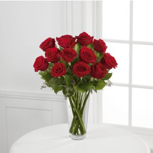 The Long Stem Red Rose Bouquet by FTD - VASE INCLUDED