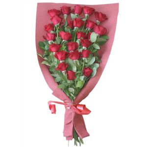 Bouquet of 24 red roses