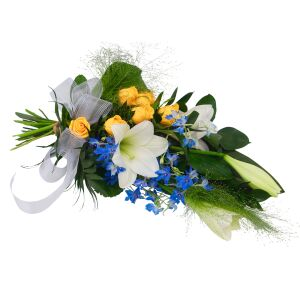 Silence has arrived -funeral bouquet