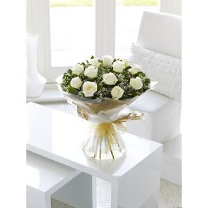 White Rose Hand-tied